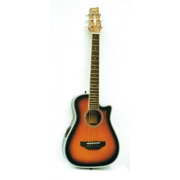 Morgan W 01 CE traveler-gitar, sunburst