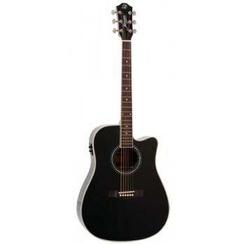 Morgan W 310 SCE akustisk gitar, svart