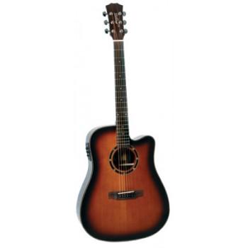 Morgan W 310 SCE akustisk gitar, dark violin burst