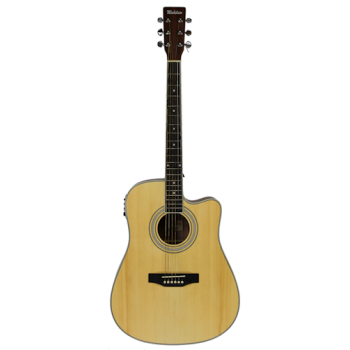 Michelsen D-100CE akustisk gitar m/ bag, matt natur