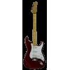Michelsen ST-100 elektrisk gitarpakke, m/ bag + tuner, metallisk rød / lønn gripebrett