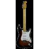 Michelsen ST-100 elektrisk gitarpakke, m/ bag + tuner, sunburst / lønn gripebrett