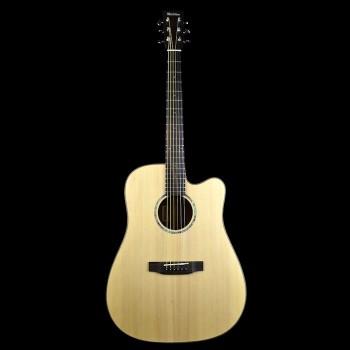 Michelsen D-200SCE akustisk gitar m/ bag, matt natur