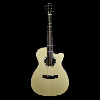 Michelsen OM-200SCE akustisk gitar m/ bag, matt natur