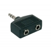 Boston AT-140 adapter, 2 x 3,5 jack female stereo, 3,5mm jack male stereo