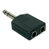 Boston AT-170 adapter, 2 x 6,3 jack female stereo, 6,3mm jack male stereo